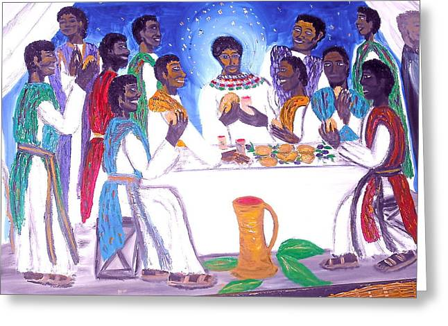 The Supper Greeting Card by BJ Abrams