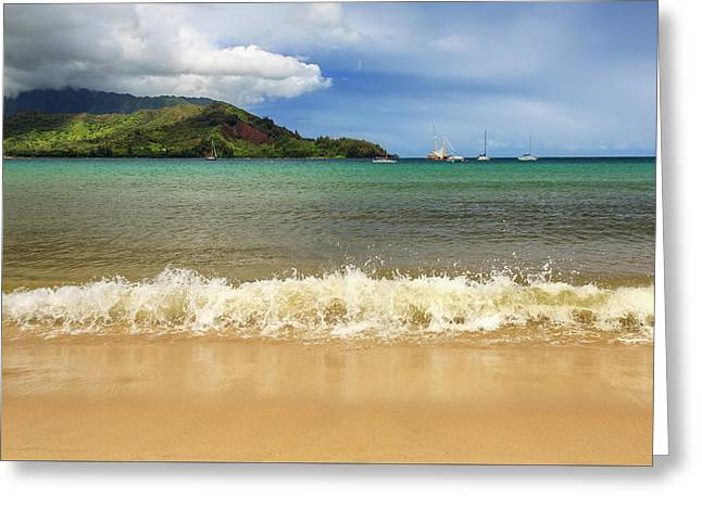 The Surf At Hanalei Bay Greeting Card