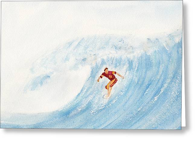 The Surfer Greeting Card by Ken Powers