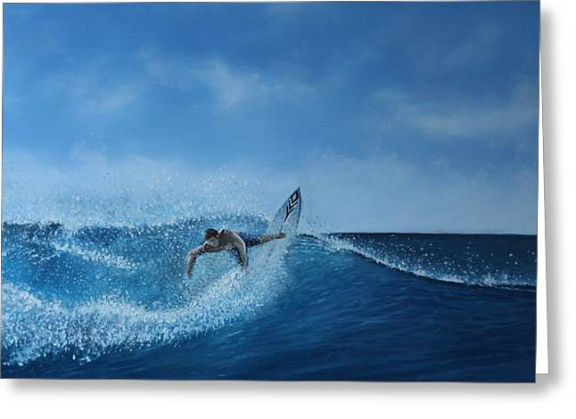 The Surfer Greeting Card by Paul Newcastle