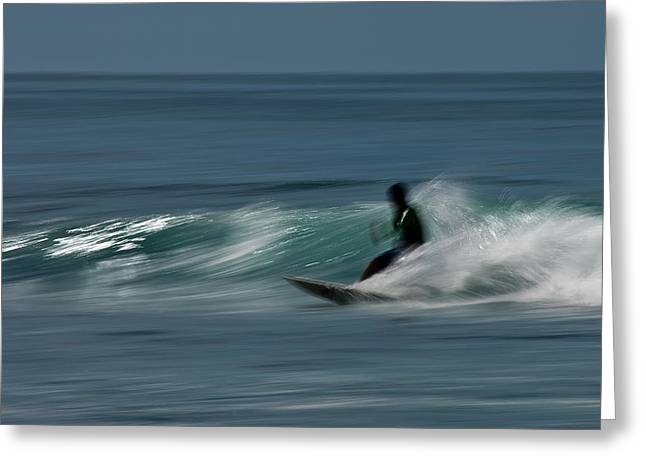 The Surfer Greeting Card by R J Ruppenthal