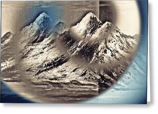 The Surreal Mountains Number Five Greeting Card by Scott Haley