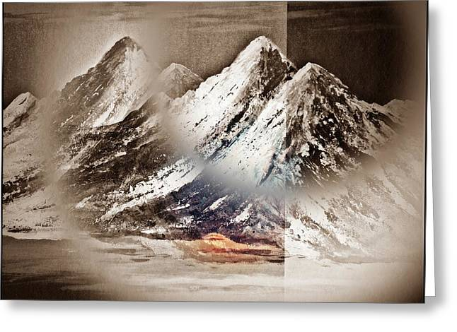 The Surreal Mountains Number Two Greeting Card by Scott Haley