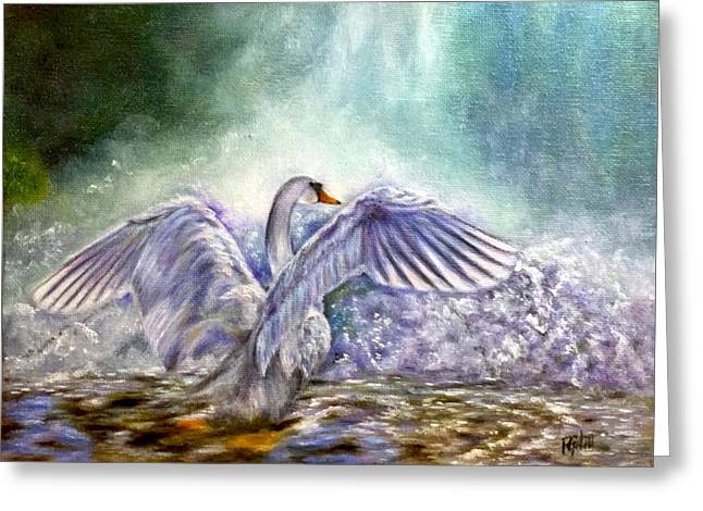 The Swan's Song Greeting Card