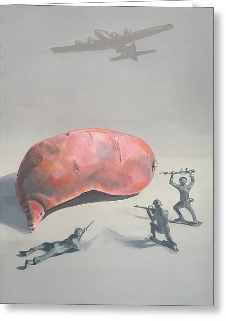 The Sweet Potato Incident Greeting Card by Jeffrey Bess
