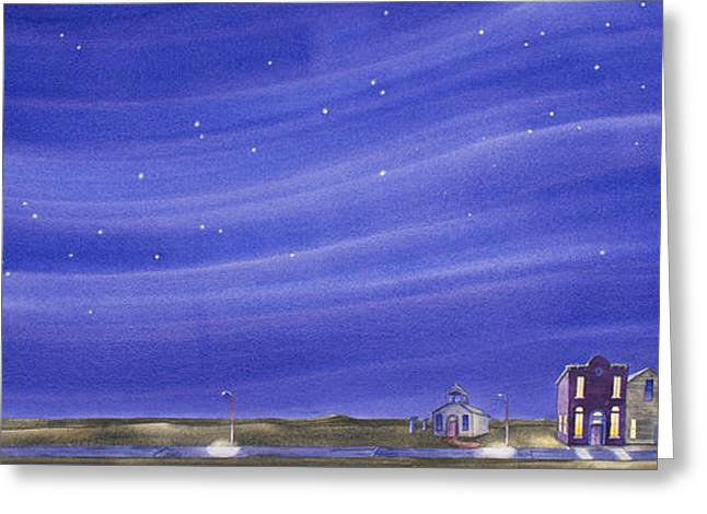 Greeting Card featuring the painting The Sweetest Little Town In The Prairie IIi by Scott Kirby