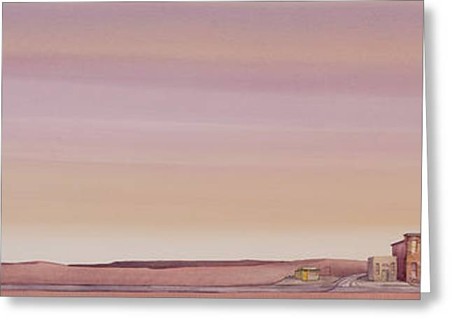 Greeting Card featuring the painting The Sweetest Little Town On The High Plains by Scott Kirby