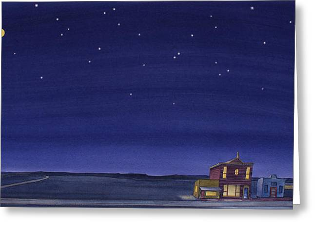 The Sweetest Little Town On The Prairie V Greeting Card by Scott Kirby