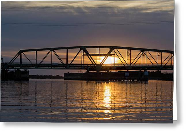 The Swing Bridge Greeting Card by Betsy Knapp