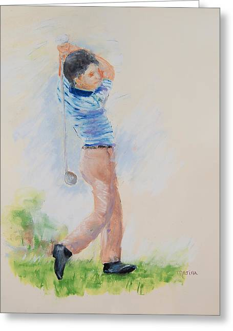 The Swing Greeting Card by Marina Garrison