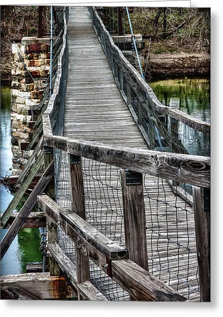 The Swinging Bridge Greeting Card