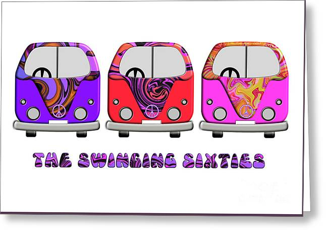 The Swinging Sixties Greeting Card