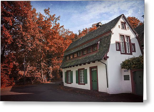 The Swiss House Greeting Card by Carol Japp