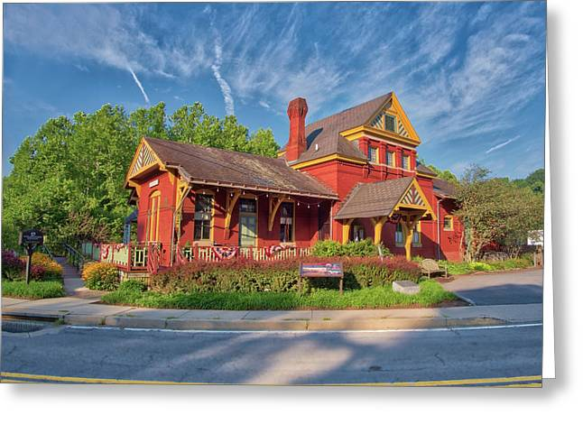 Greeting Card featuring the photograph The Sykesville B And O Train Station by Mark Dodd