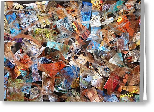 The Synergies Of Recycling Wastes And Intellects #3000 Greeting Card by Mbonu Emerem