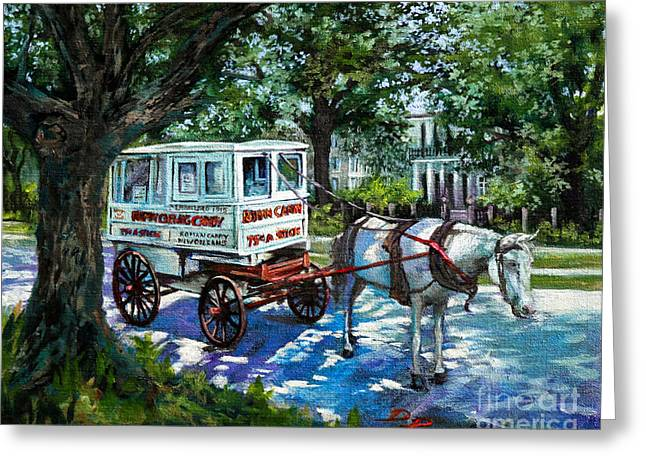 The Taffy Man Greeting Card by Dianne Parks