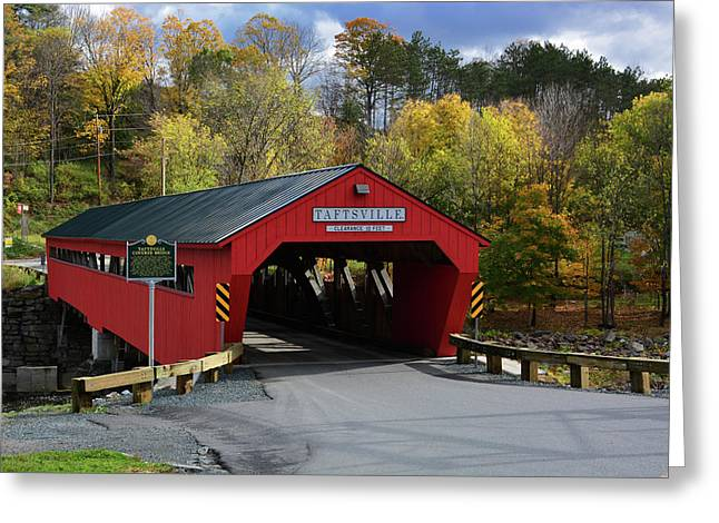 The Taftsville Covered Bridge Greeting Card