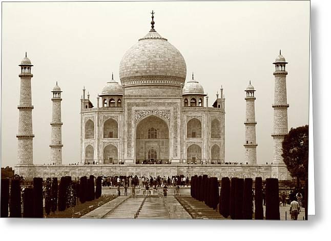 The Taj Mahal At Agra, India Greeting Card
