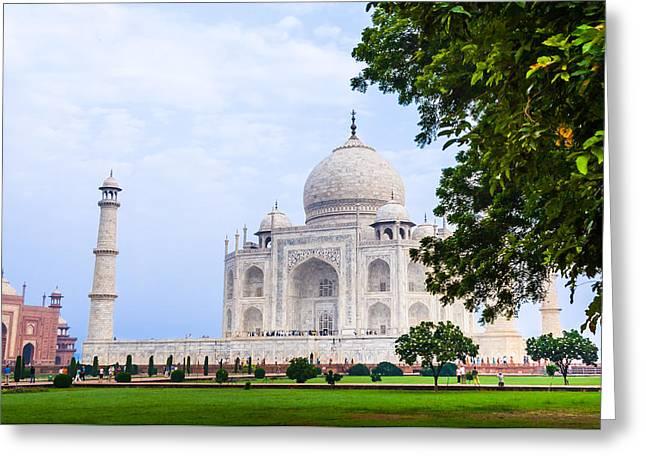 The Taj Mahal In Agra, India Greeting Card by Nila Newsom