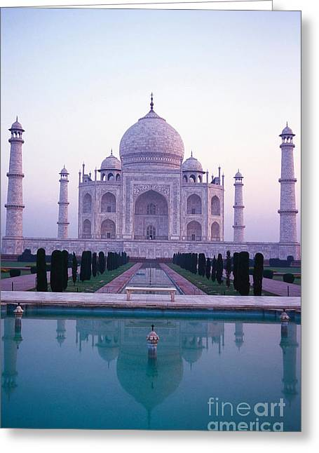 The Taj Mahal Greeting Card by Indian School