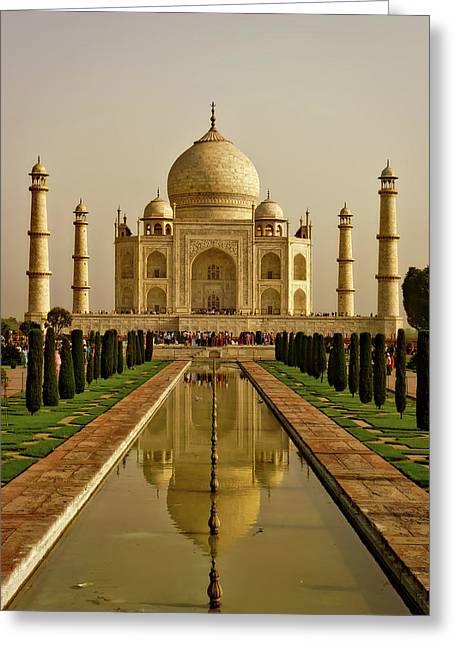 The Taj Mahal Greeting Card by Logga Wiggler