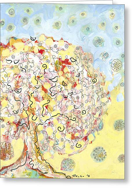 The Talking Tree Greeting Card by Jennifer Lommers