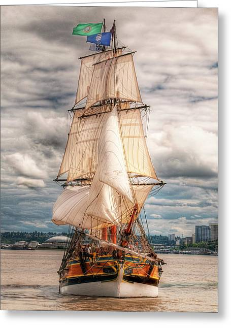 The Tall Ship The Lady Washington Greeting Card