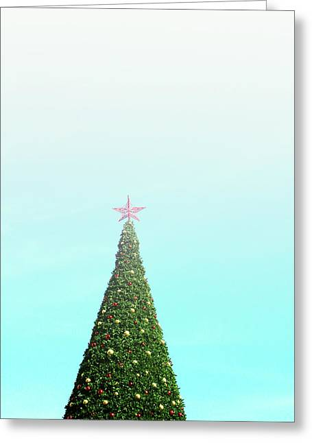 The Tallest Christmas Tee- Photograph By Linda Woods Greeting Card