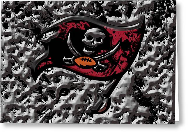 The Tampa Bay Buccaneers 1a Greeting Card by Brian Reaves