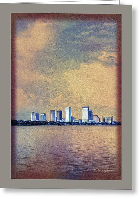 The Tampa Cityscape Greeting Card by Marvin Spates