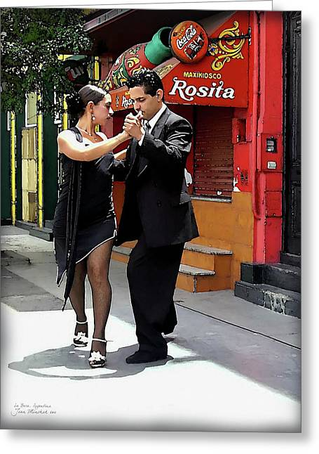 The Tango Greeting Card by Joan  Minchak