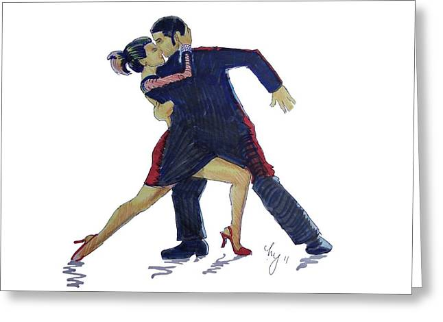 The Tango Greeting Card