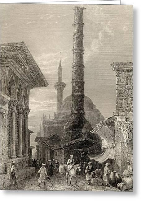 The Tchernberle Tash Or Burnt Pillar Greeting Card