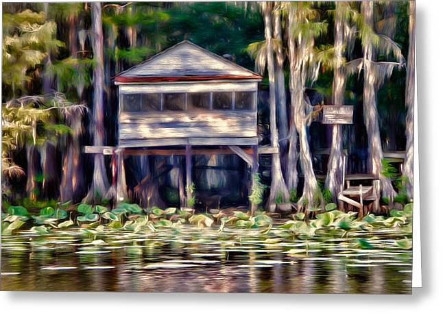 The Tea Room Greeting Card by Lana Trussell
