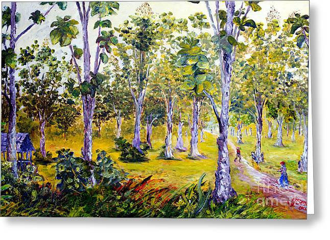 The Teak Garden Greeting Card