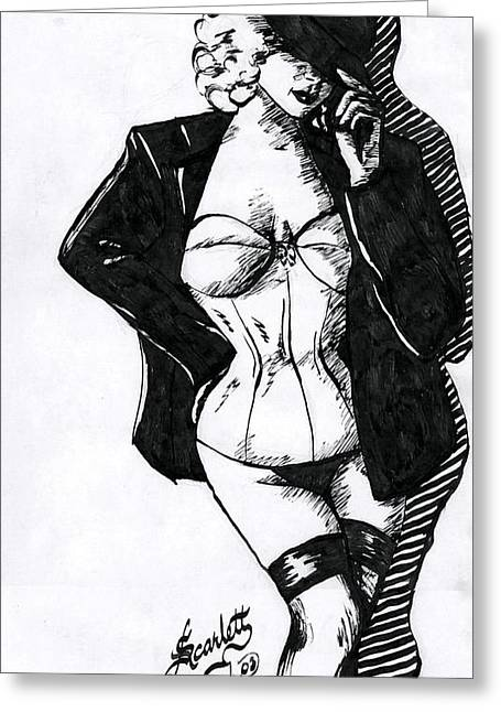 The Tease Greeting Card by Scarlett Royal