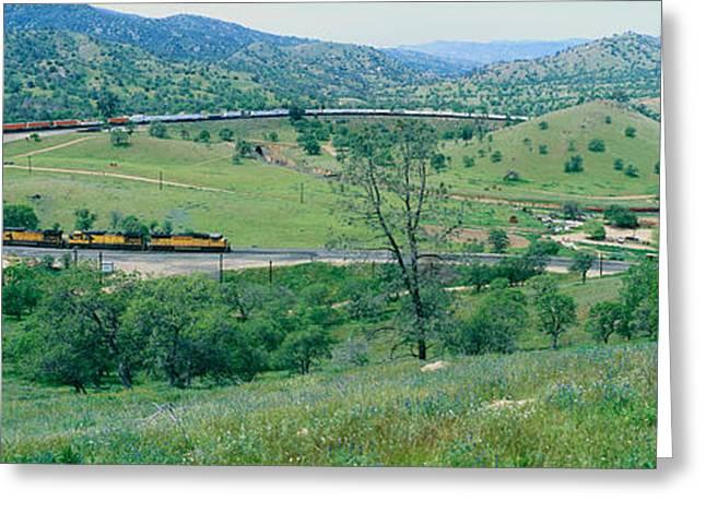 The Tehachapi Train Loop Near Tehachapi Greeting Card by Panoramic Images