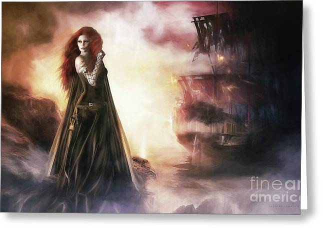 The Tempest Greeting Card by Shanina Conway