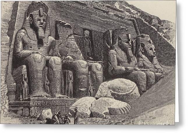 The Temple Of Abu Simbel Greeting Card