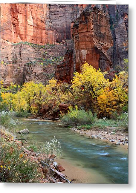 The Temple Of Sinawava In Zion National Park Greeting Card by Pierre Leclerc Photography