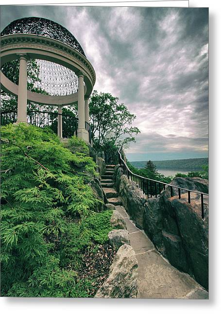 The Temple Walkway Greeting Card by Jessica Jenney