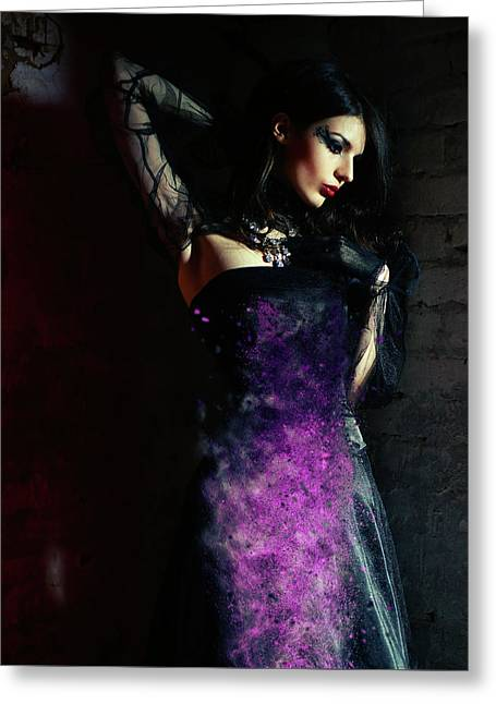 The Temptress Greeting Card by Nichola Denny