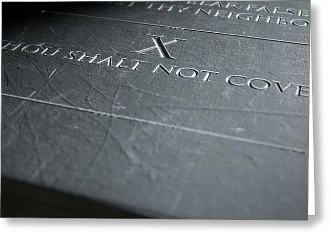 The Tenth Commandment Greeting Card
