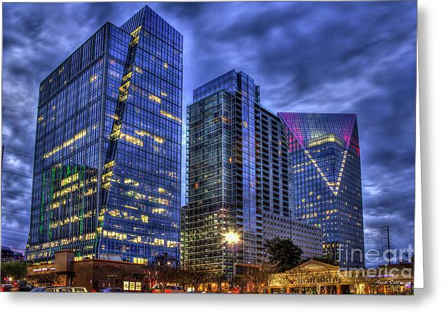 The Terminus Complex Cousins Property Buckhead Atlanta Art Greeting Card by Reid Callaway