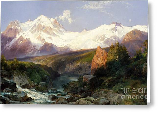 The Teton Range, 1897 Greeting Card by Thomas Moran