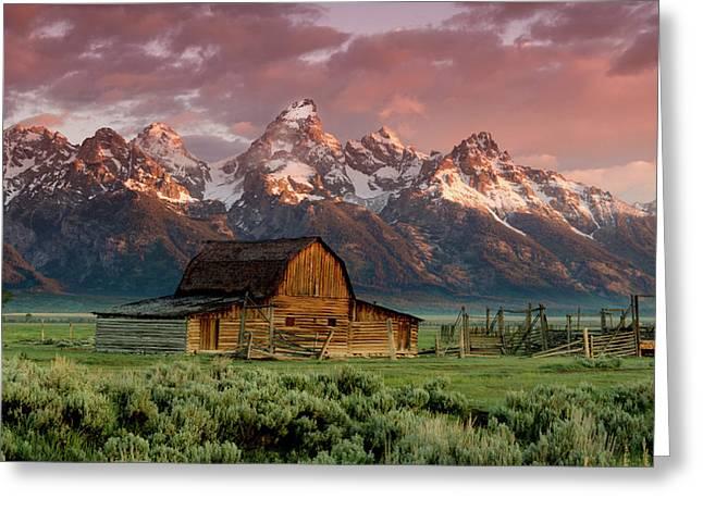 The Teton Range Greeting Card