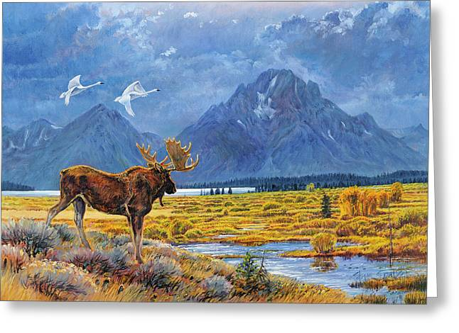 The Teton Trio Greeting Card by Steve Spencer
