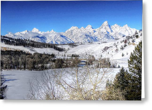 The Tetons From Gros Ventre Valley Greeting Card