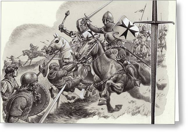 The Teutonic Knights Greeting Card by Pat Nicolle