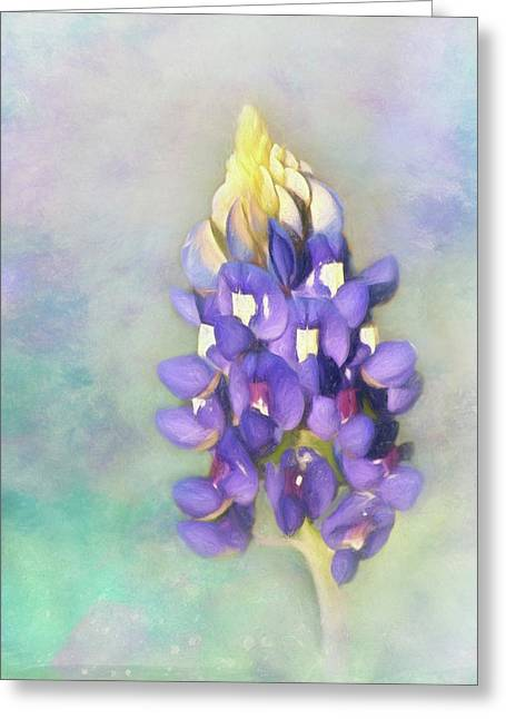 Greeting Card featuring the photograph The Texas State Flower The Bluebonnet by David and Carol Kelly